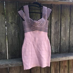 Dresses & Skirts - Baby pink bandage dress